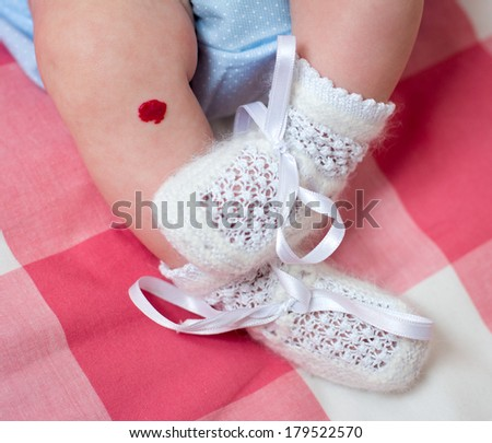 Detail of a baby legs
