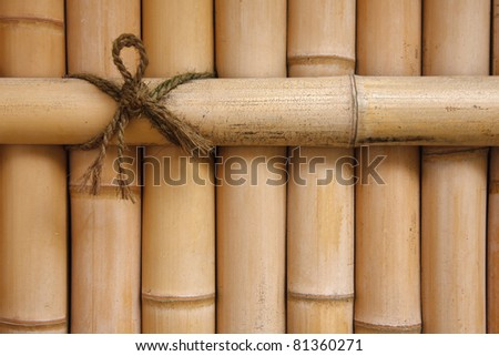 Detail of a bamboo fence - stock photo