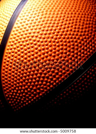 detail of a basketball - stock photo