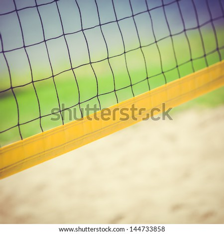 Detail of a Beach Volleybal Net - stock photo