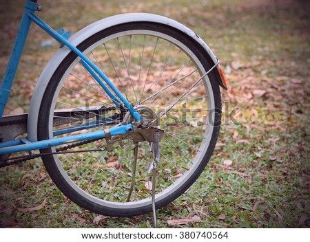 Detail of a Bicycle in vintage retro tone
