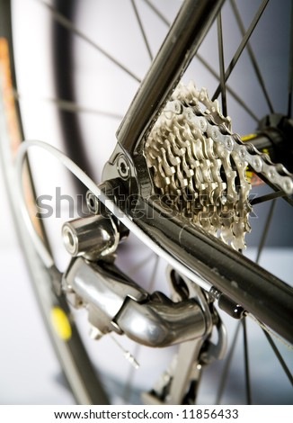 Detail of a bike - stock photo