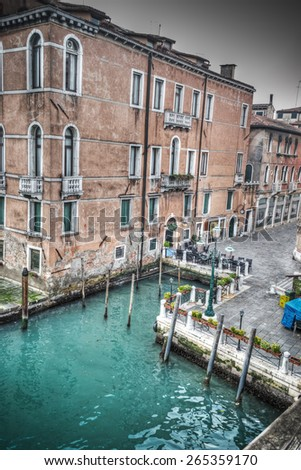 detail of a building in Venice Grand Canal, Italy - stock photo