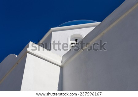 Detail of a church in Iraklia island, Cyclades, Greece