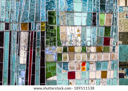 Detail of a colorful window. Good image to be used as background - stock photo