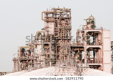 Detail of a Complex Industrial Building - stock photo