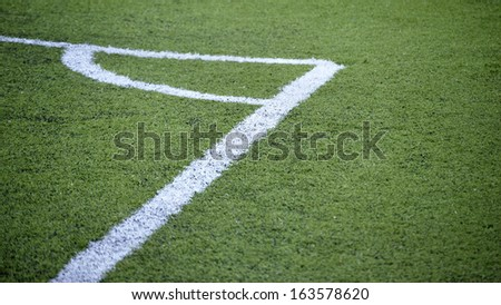 Detail of a corner in a soccer field - stock photo