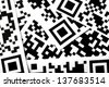 Detail of a few qr codes printed on paper - stock photo