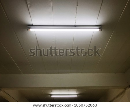 Detail Fluorescent Light Tube On Wall Stock Photo (Edit Now ...