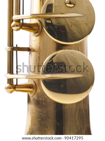 detail of a golden saxophone