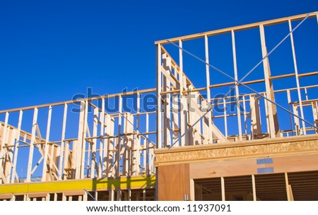 Detail of a House Frame under construction