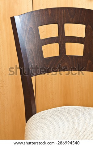 Detail of a kitchen chair with a beautiful texture - stock photo