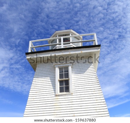 Detail of a lighthouse - stock photo