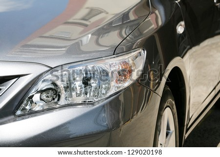 detail of a luxury car - stock photo