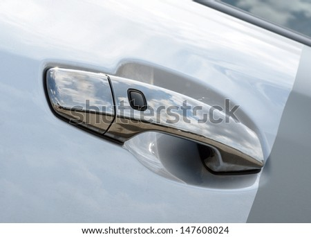 detail of a luxury car on a background - stock photo