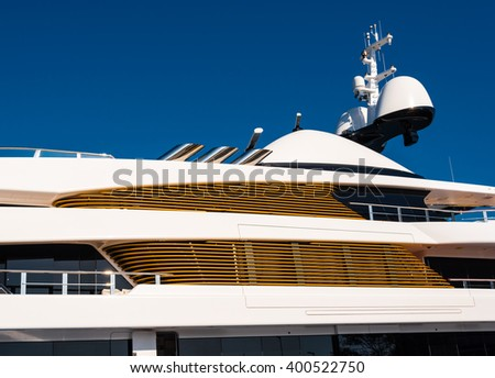 detail of a luxury yacht - stock photo