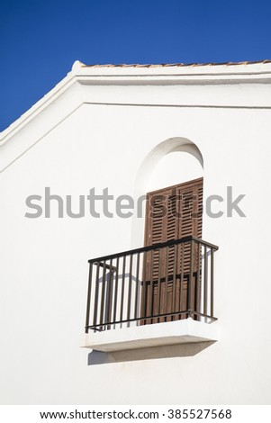 Detail of a mediterranean balcony in Calpe, Alicante, Spain - stock photo