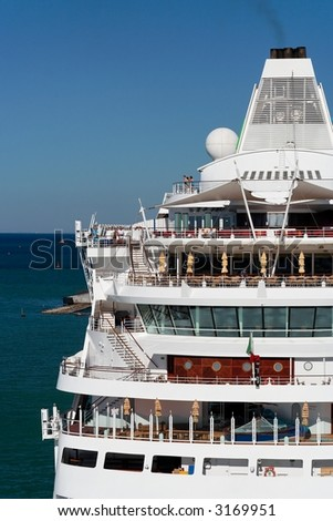 Detail of a modern cruise ship - stock photo