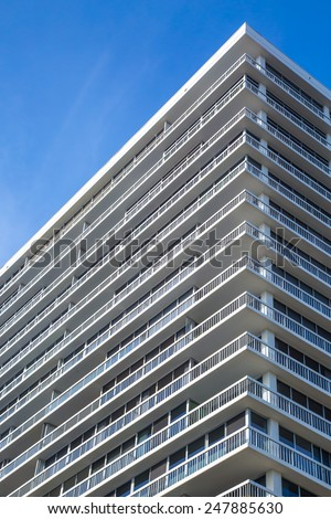 Detail of a modern residential tower - stock photo