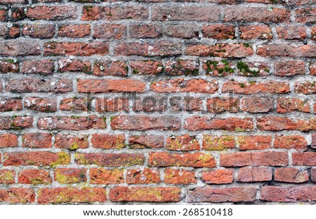 Detail of a monumental old wall in Wassenaar, The Netherlands. - stock photo