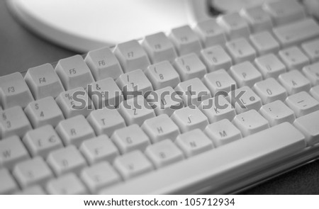 detail of a omputer keyboard - stock photo
