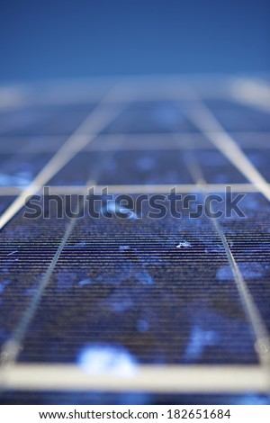 detail of a photovoltaic panel for renewable electric production - stock photo