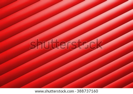 Detail of a red garage door - stock photo