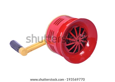 Detail of a Red siren a firefighters vehicle  - stock photo