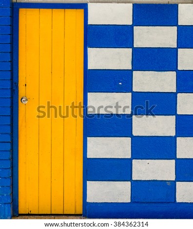 Detail of a restored colonial building in Old Havana with typical caribbean colors - stock photo