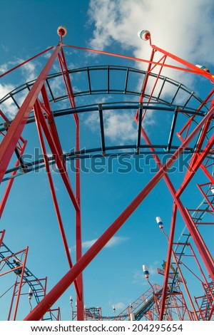 detail of a  rollercoaster - stock photo