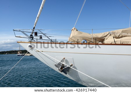 detail of a sailing boat in Croatia
