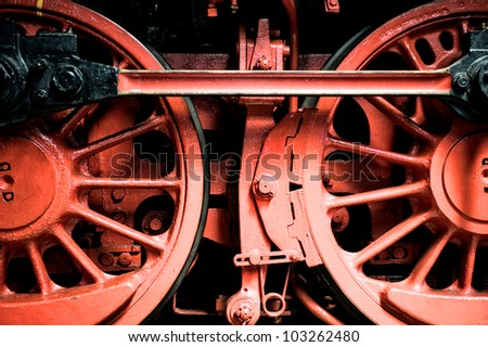 detail of a steam train - stock photo