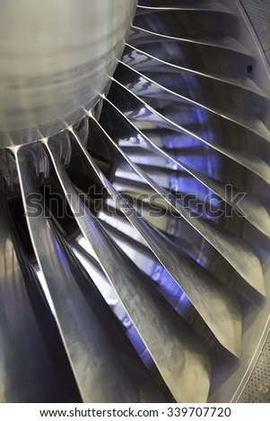 Detail of a Steel Plane Jet, close up - stock photo