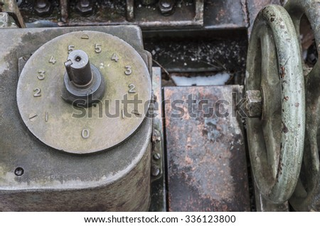 Detail of a steelworks machine