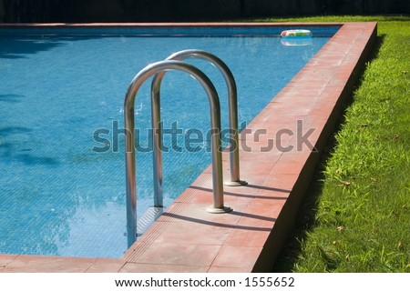 Detail of a swimming-pool