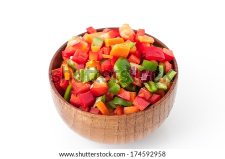 Detail of a varied vegetables cut  - stock photo