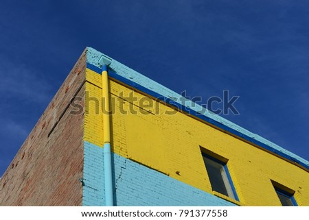 Detail of a very colorful building with interesting texture.