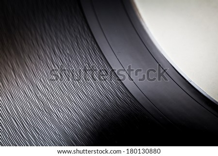 Detail of a vinyl record
