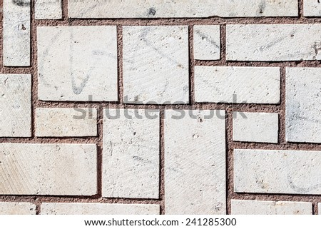 Detail of a wall in Burgos, Spain - stock photo