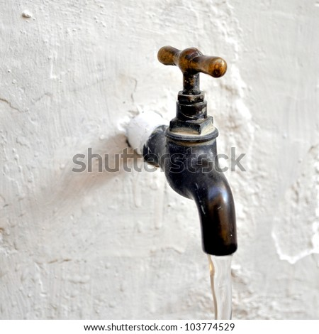 Detail Water Tap Valve Faucet Spigot Stock Photo (Royalty Free ...
