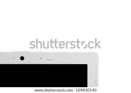 detail of a webcam of laptop with space for the text - stock photo