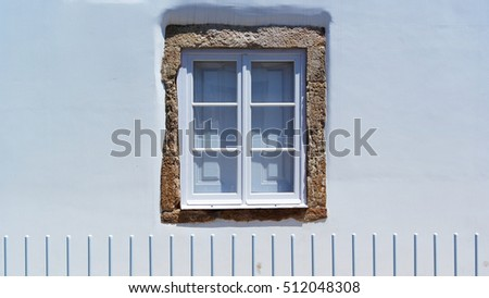 Detail of a window, Tomar, Portugal