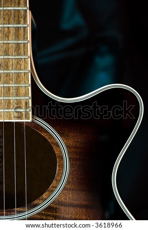 Detail of acoustic guitar