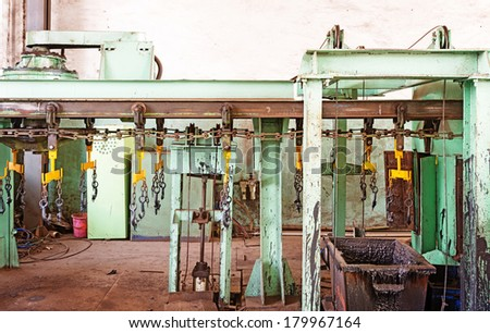 Detail of an abandoned industrial area - stock photo