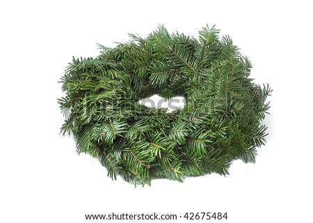 Detail of an advent wreath not decorated - stock photo