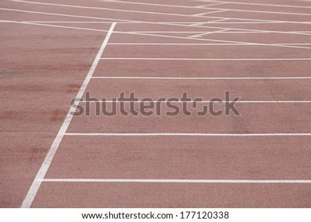 Detail of an athletics track, detail of a running track, outdoor sports, aerobic sports