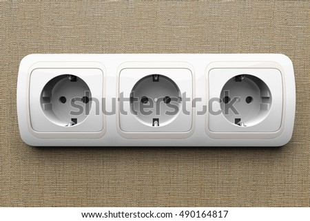 Detail of an electric outlet