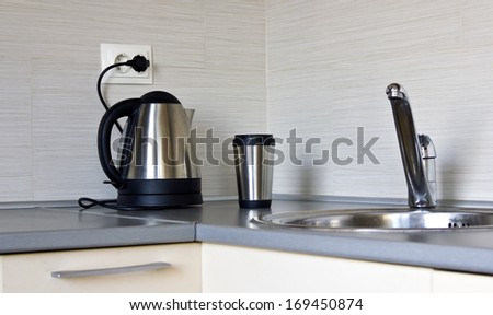 Detail of an modern kitchen - stock photo