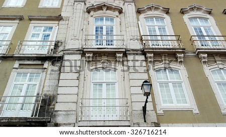 Detail of an old building, Lisbon, Portugal
