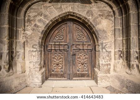 Detail of an old church or castle door & Castle Door Stock Images Royalty-Free Images \u0026 Vectors | Shutterstock